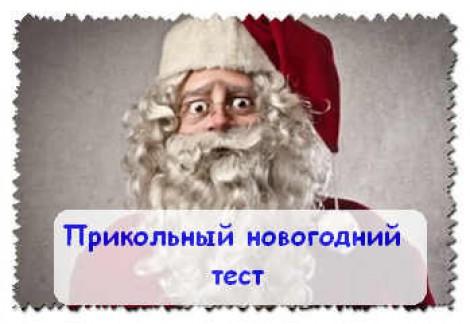 Прикольный новогодний тест. Письмо дед морозу.