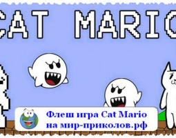 Флеш игра «Кот Марио» (Cat Mario)