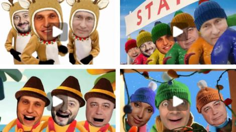 Прикольные новогодние видео поздравления с вашим участием.