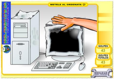 Флеш прикол «Разбей компьютер».