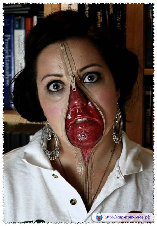 Грим на хэллоуин на лицо